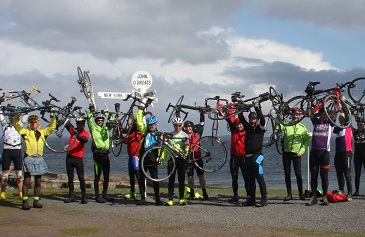 Celebrating at John O Groats