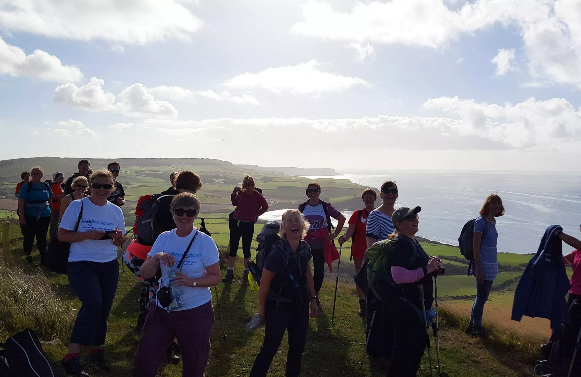 Fundraising challengers on the Jurassic Coast