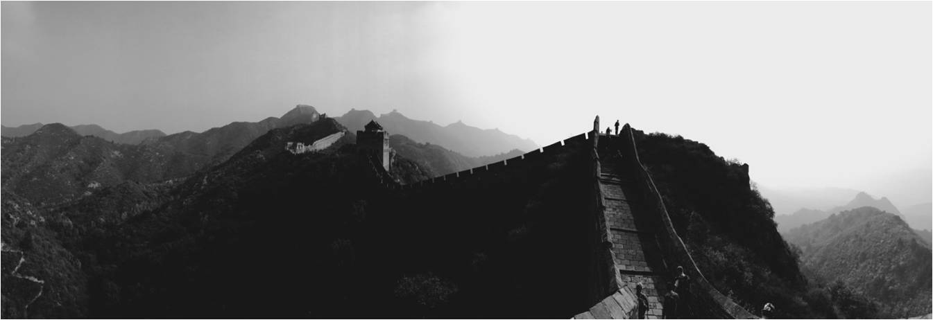 bw sillouette of great wall