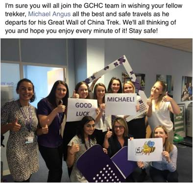 good luck from GCHC
