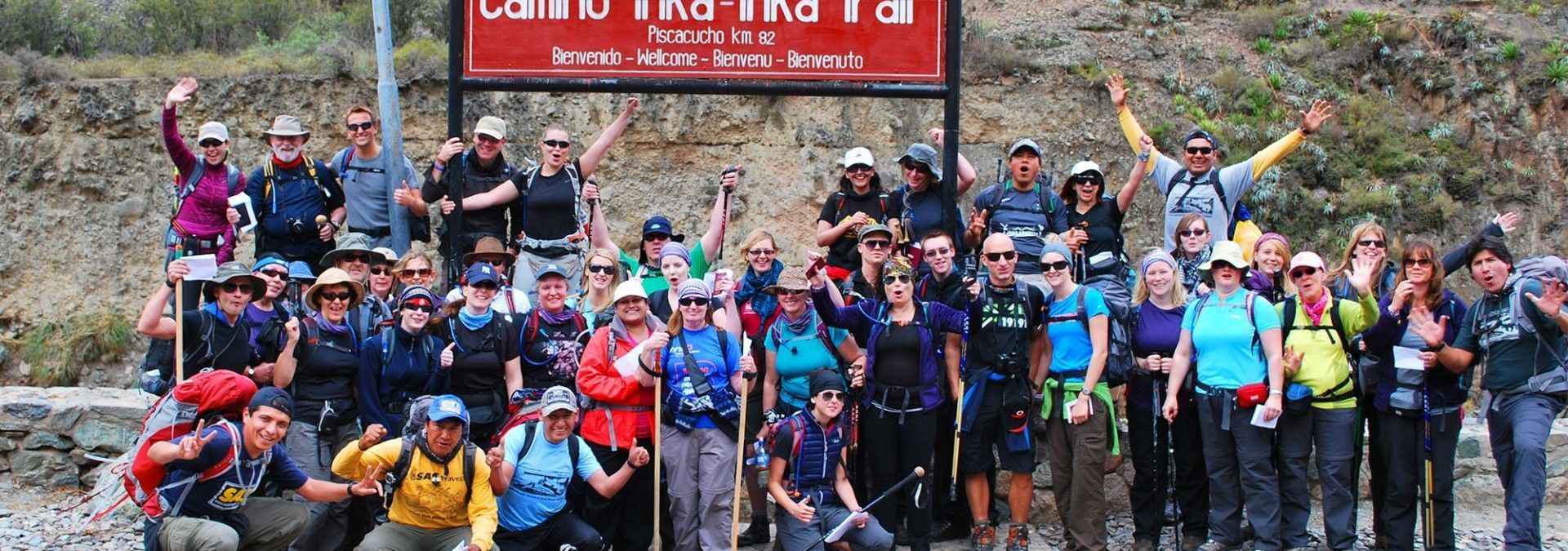 Setting off from Km82 - the Inca Trail's starting-point