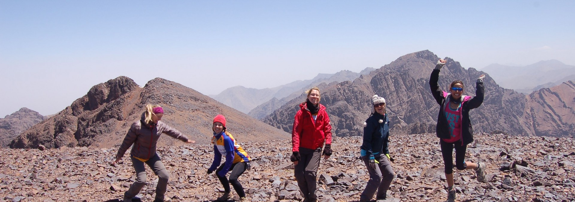 Jumping for joy on Mount Toubkal