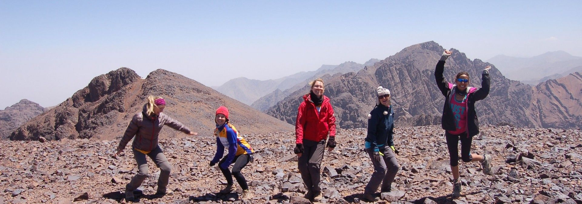 Jumping for joy on Toubkal