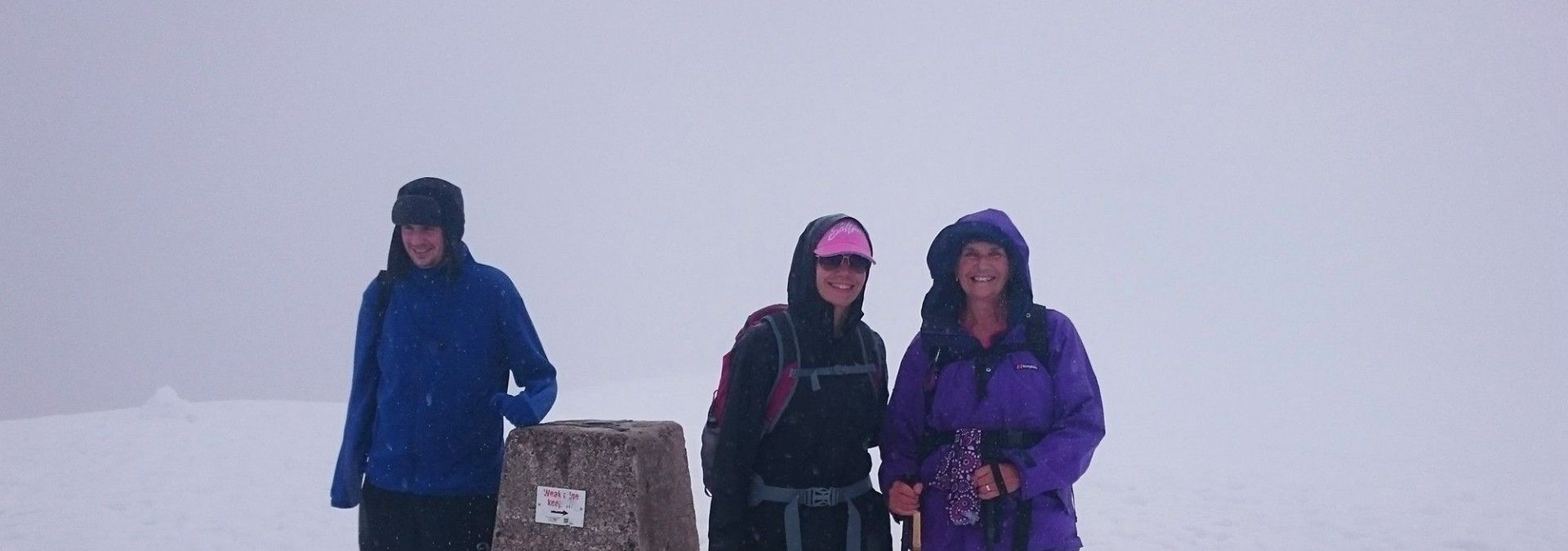 A snowy summit of Ben Nevis