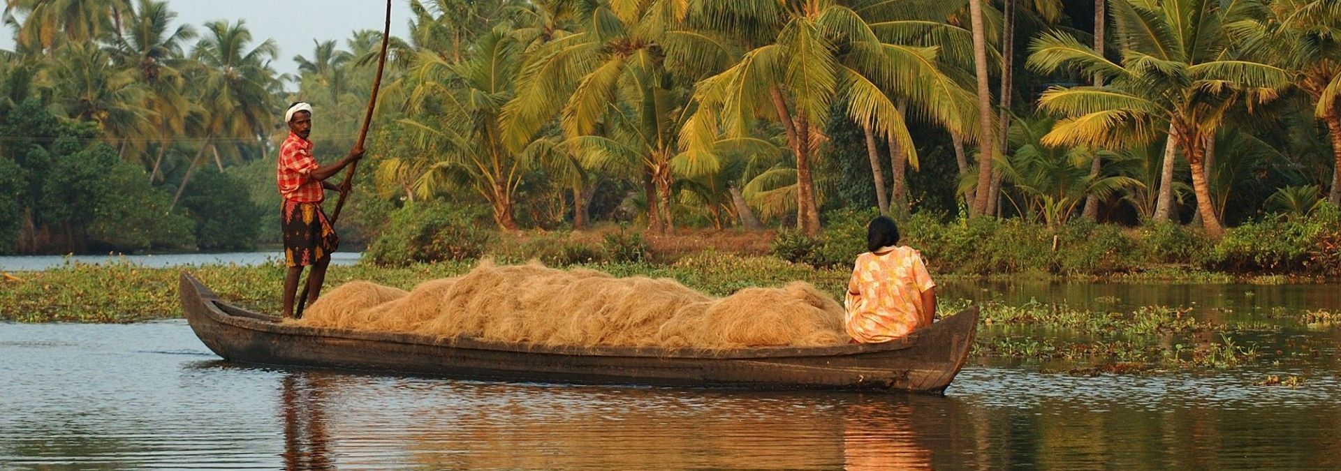 Serene backwaters of Kerala