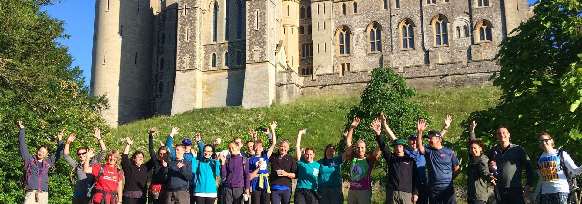 Arundel Castle on the  South Downs Challenge