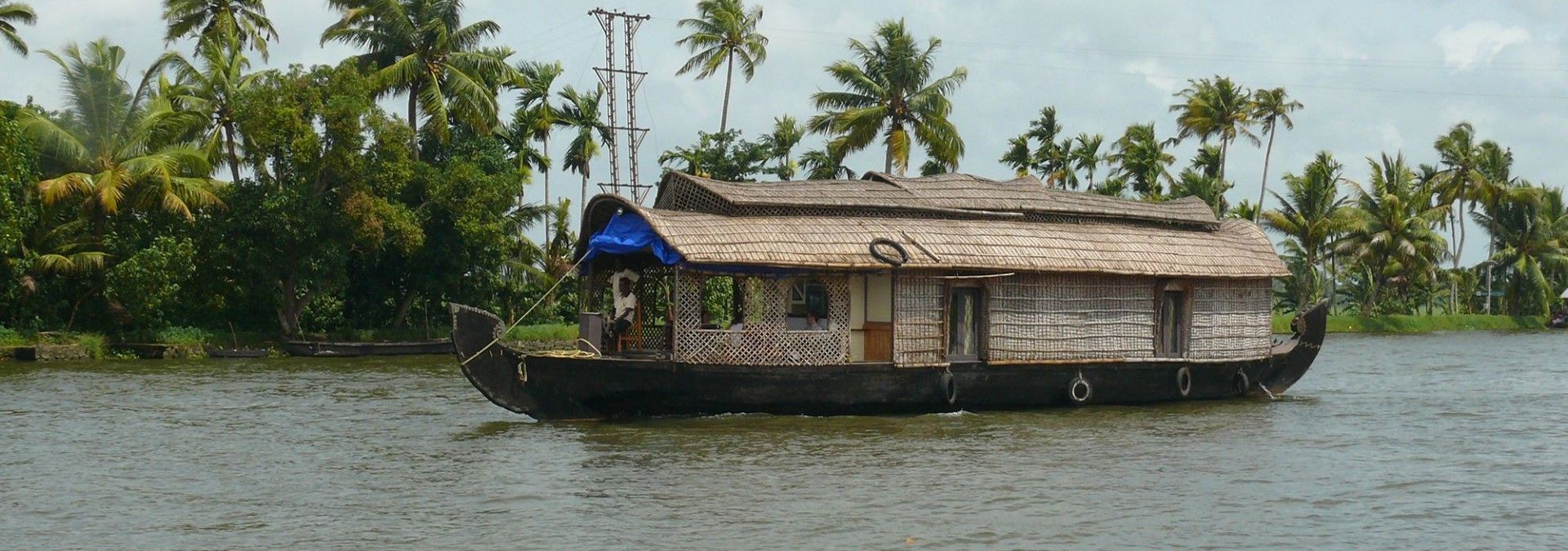 Houseboat on the backwaters of Alleppey