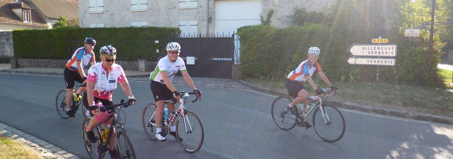 Cycling for charity in France