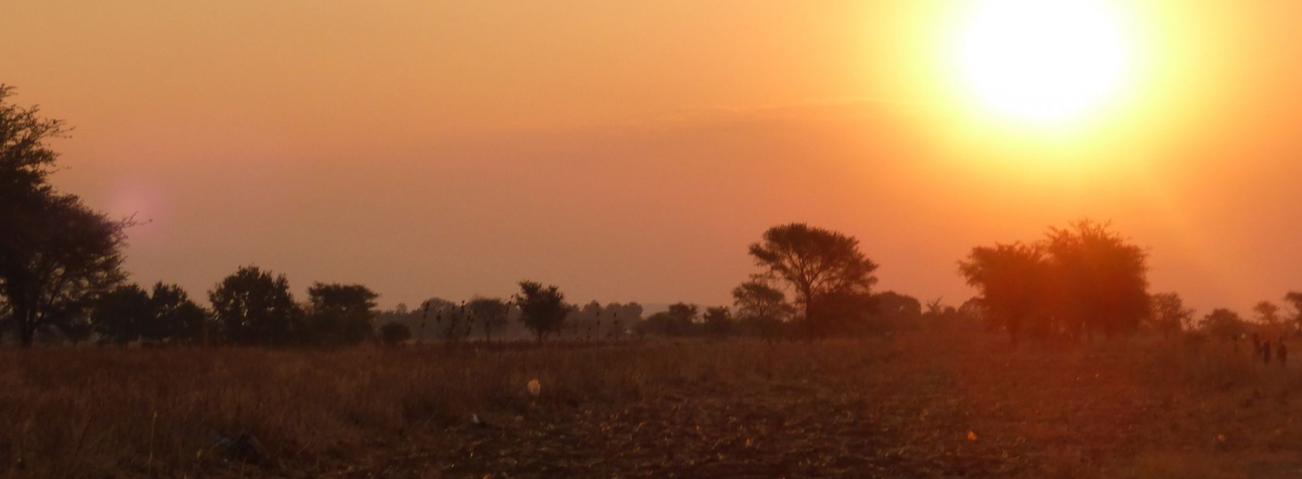 Watching the sunset in Zambia