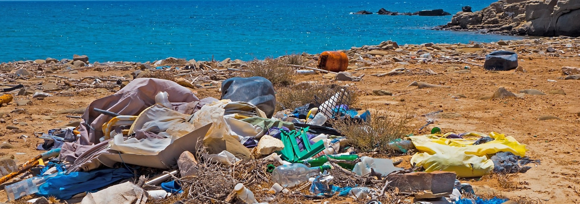 Plastic waste on Moroccan Beaches
