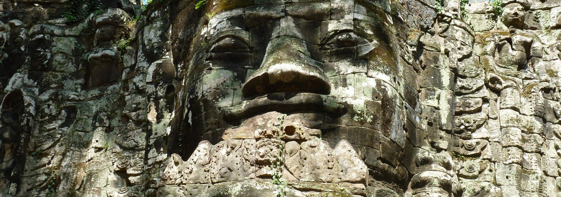 Ancient temples of Angkor Wat in Cambodia