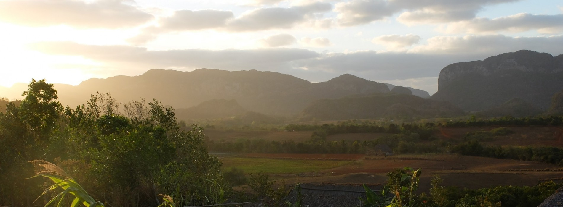 Sunset across Viñales