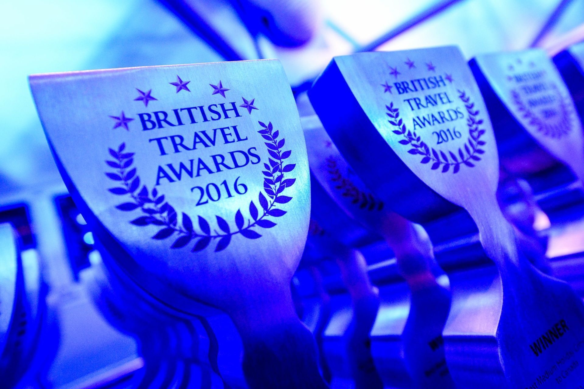 Gold at the British Travel Awards